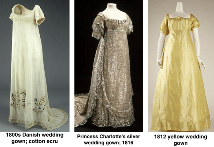 1800 Style Wedding Dresses