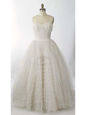 1950 vintage wedding dresses photo - 1