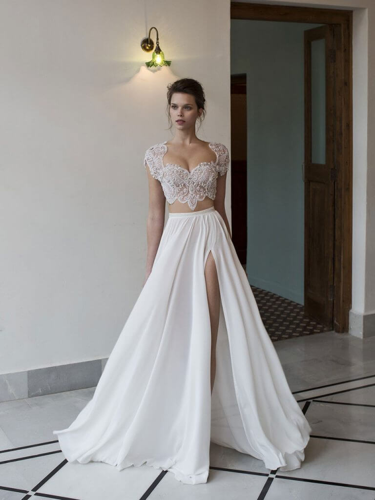 2 piece wedding dresses photo - 1
