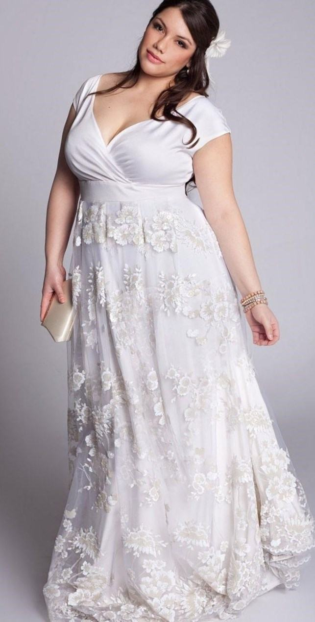 2nd wedding dresses plus size photo - 1