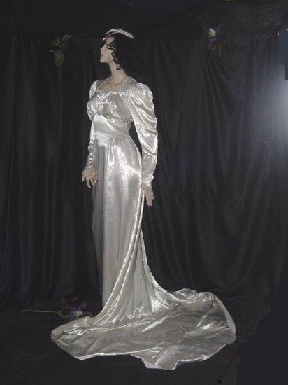 30s style wedding dresses photo - 1