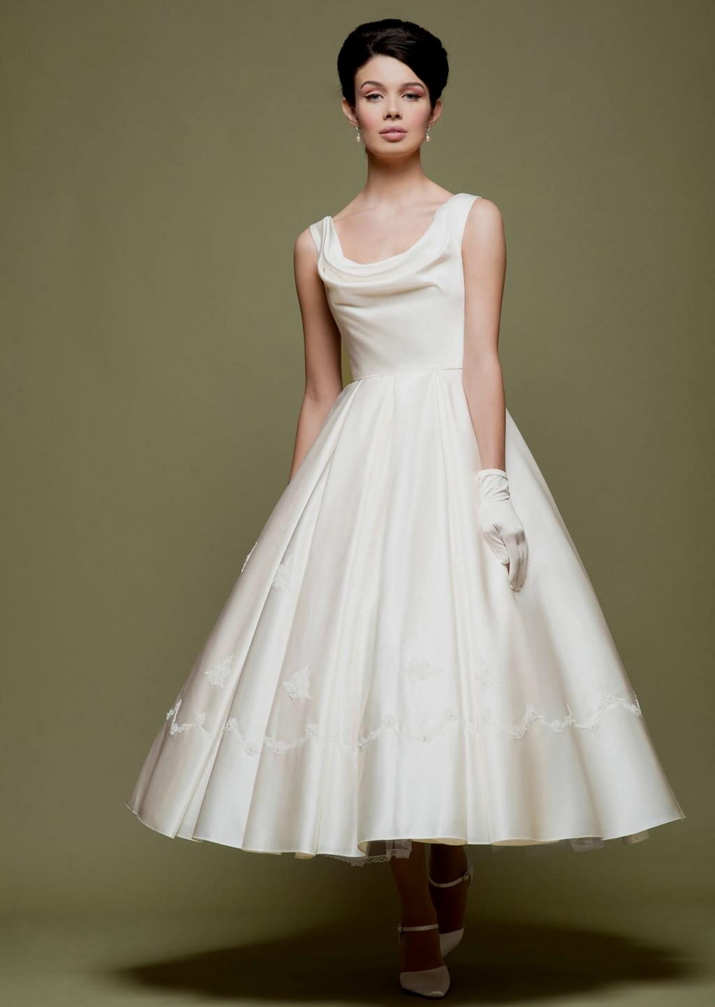 50s inspired wedding dresses photo - 1