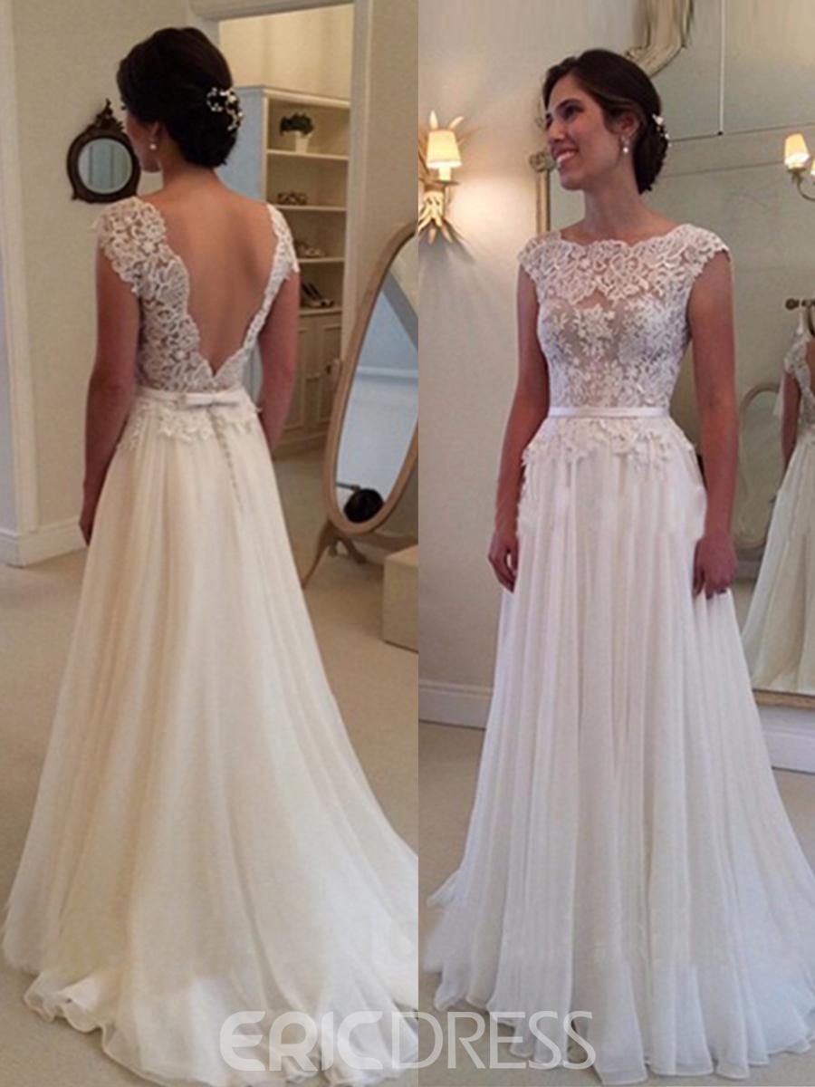 a line lace wedding dresses photo - 1