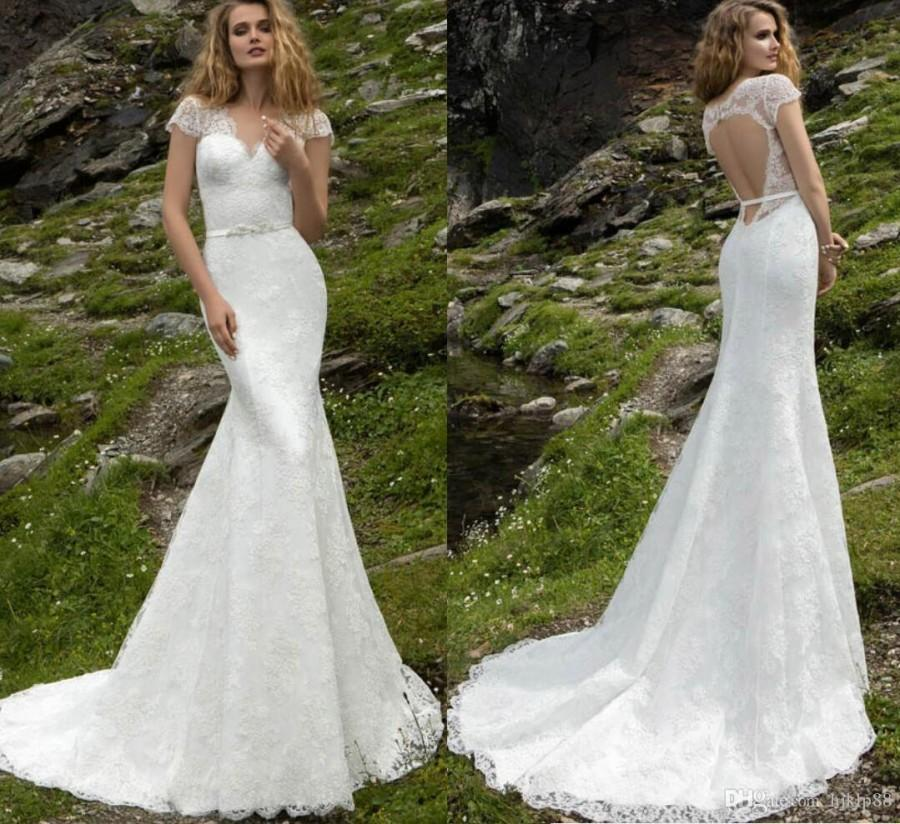 a line mermaid wedding dresses photo - 1