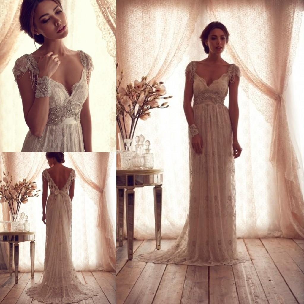 a line wedding dresses with cap sleeves photo - 1