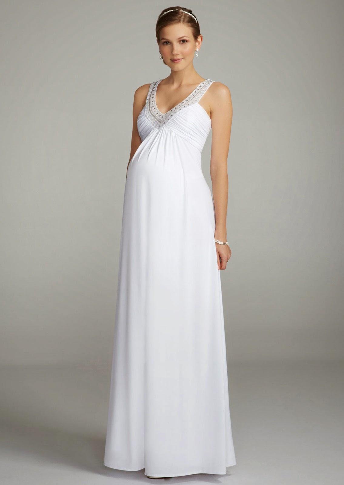 affordable maternity wedding dresses photo - 1