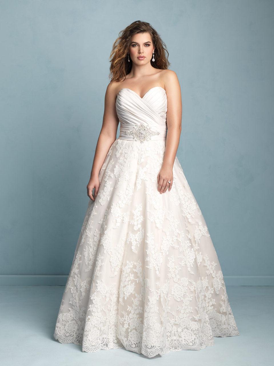allure plus size wedding dresses photo - 1