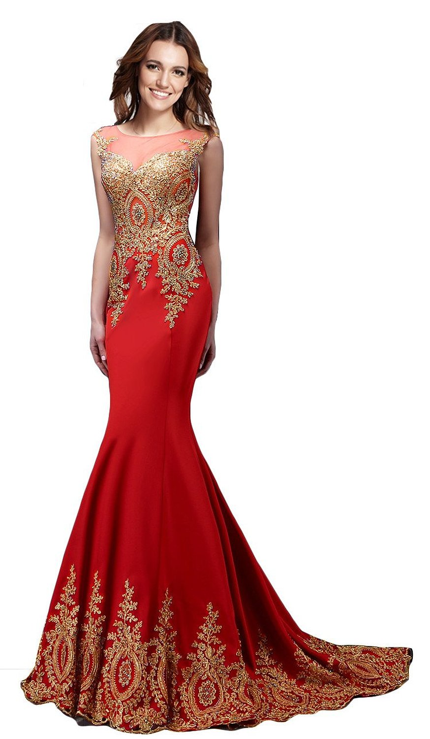 amazon long evening dresses photo - 1