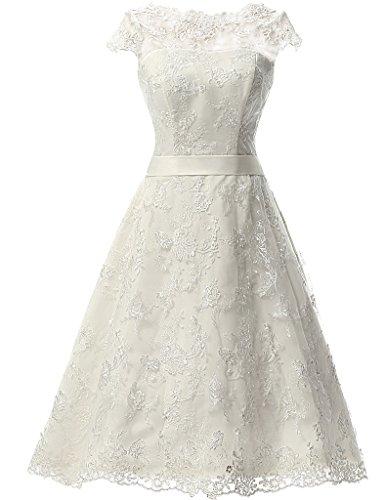 amazon short wedding dresses photo - 1