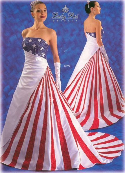american flag wedding dresses photo - 1