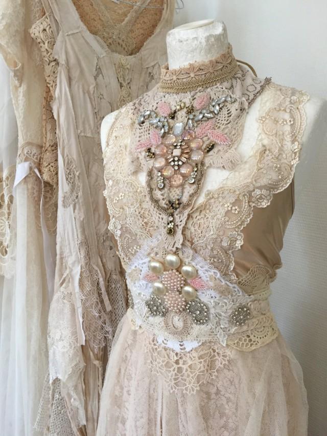 antique lace wedding dresses photo - 1