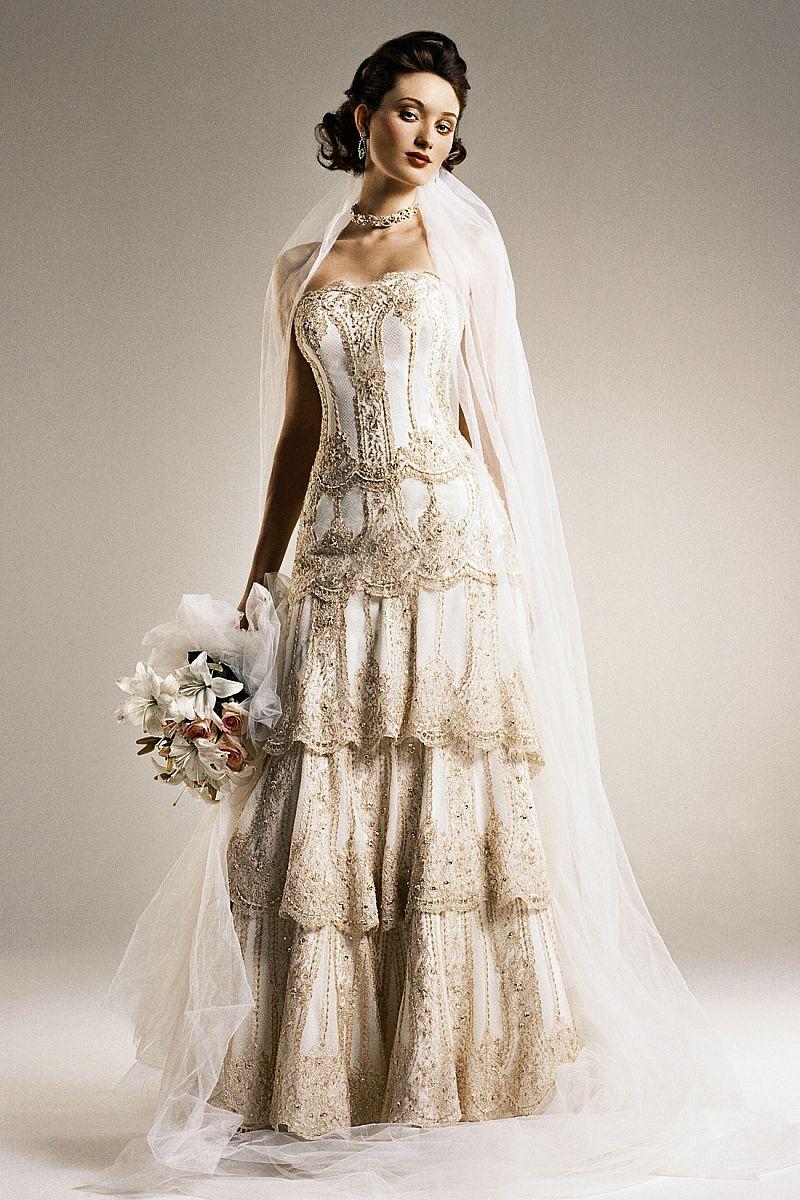antique looking wedding dresses photo - 1