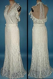 antique white wedding dresses photo - 1