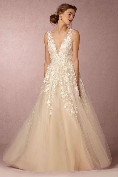 applique wedding dresses photo - 1