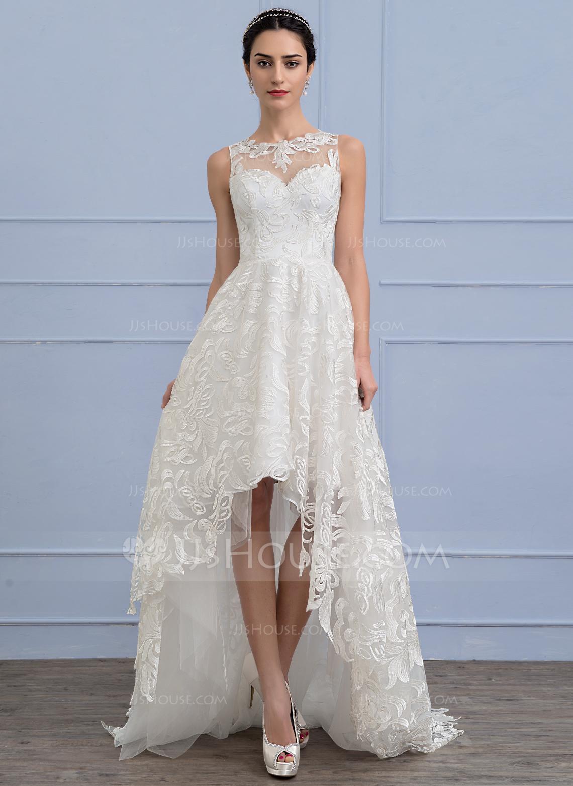 asymmetrical wedding dresses photo - 1