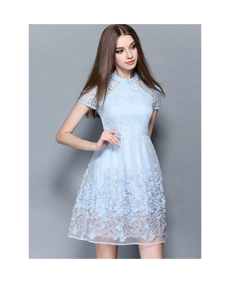 baby blue dresses for wedding photo - 1