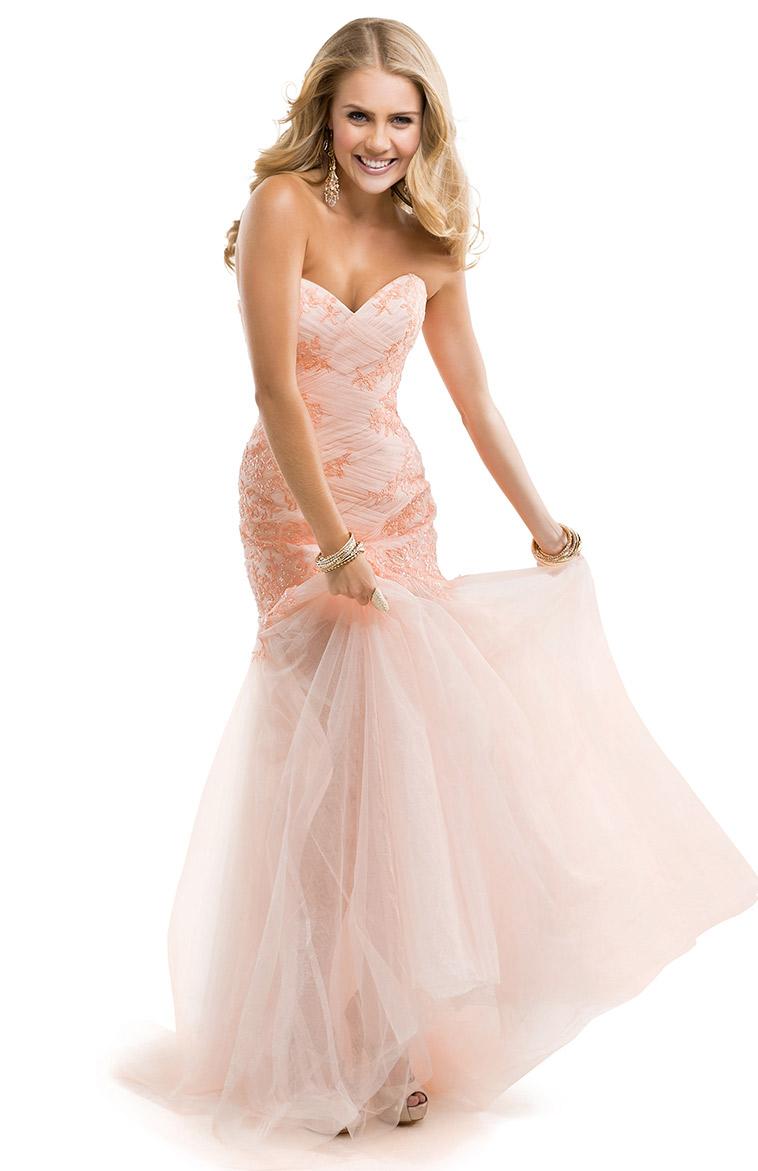 baby pink wedding dresses photo - 1