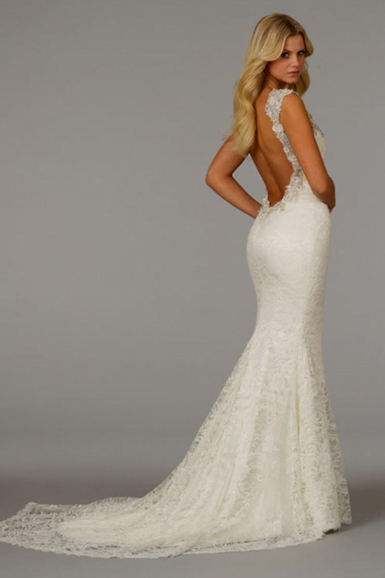 backless mermaid wedding dresses photo - 1