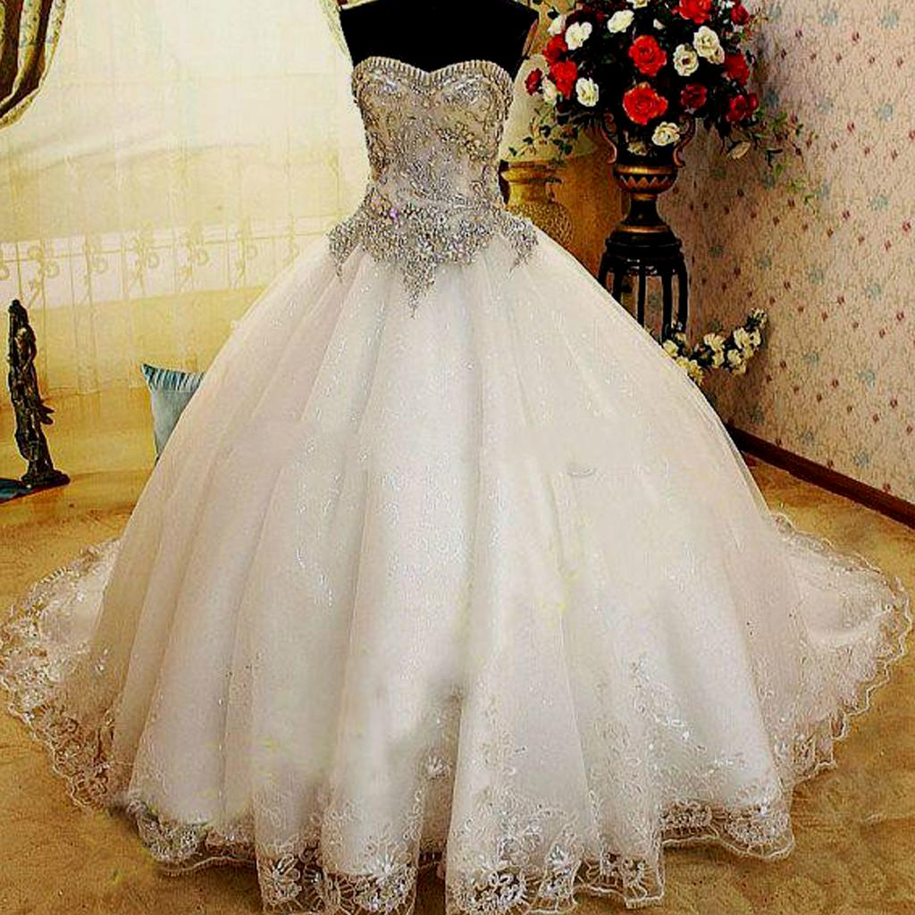 ball gown wedding dresses with bling photo - 1