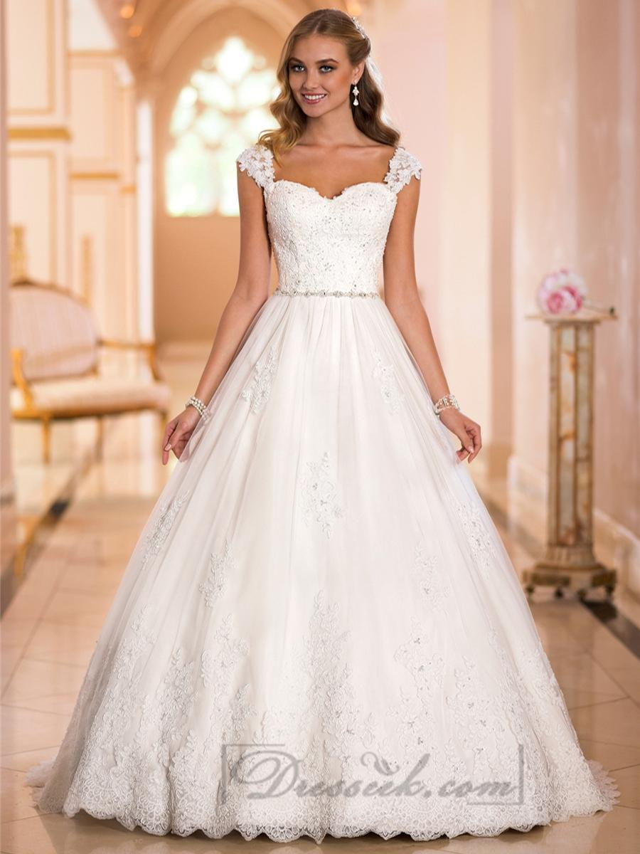 ball gown wedding dresses with straps photo - 1