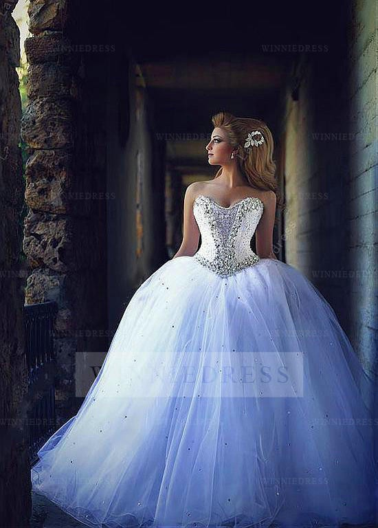 ball gown wedding dresses with sweetheart neckline and bling photo - 1