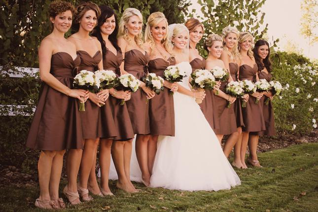 barn wedding bridesmaid dresses photo - 1