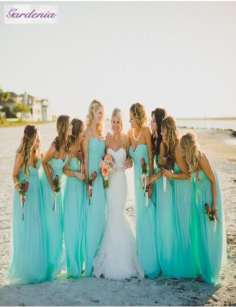 beach wedding bridesmaid dresses photo - 1