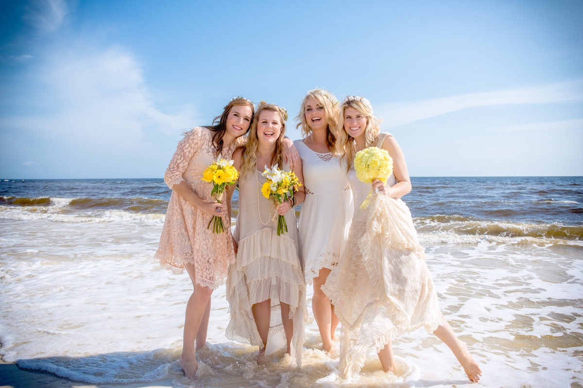 beach wedding dresses for guests photo - 1