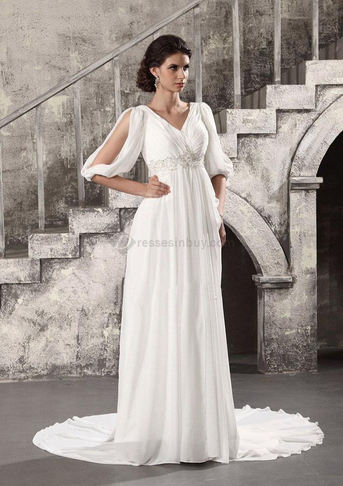 beach wedding dresses with sleeves photo - 1