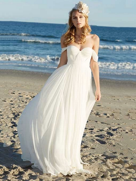 beautiful beach wedding dresses photo - 1