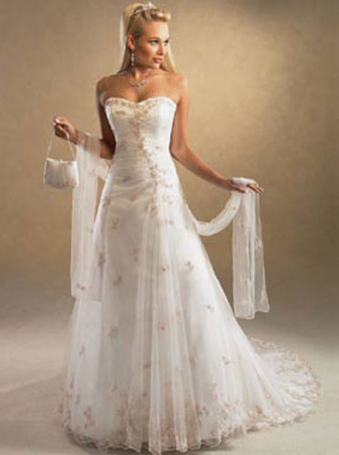 beautiful inexpensive wedding dresses photo - 1