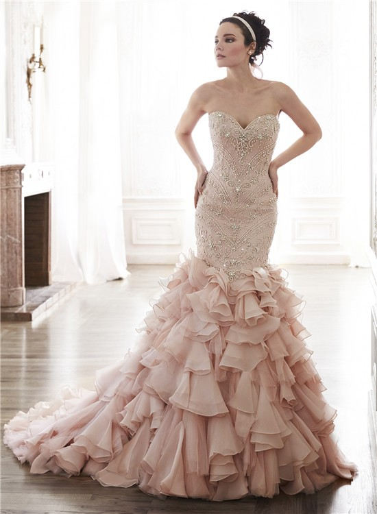 beautiful mermaid wedding dresses photo - 1