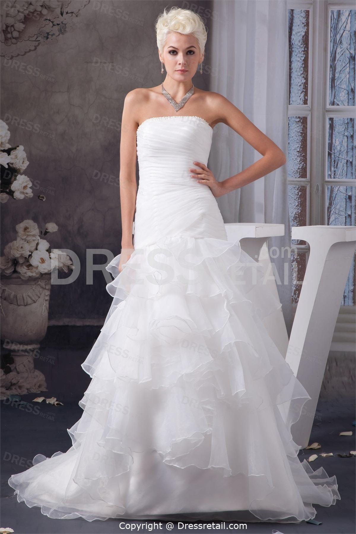 beautiful white wedding dresses photo - 1