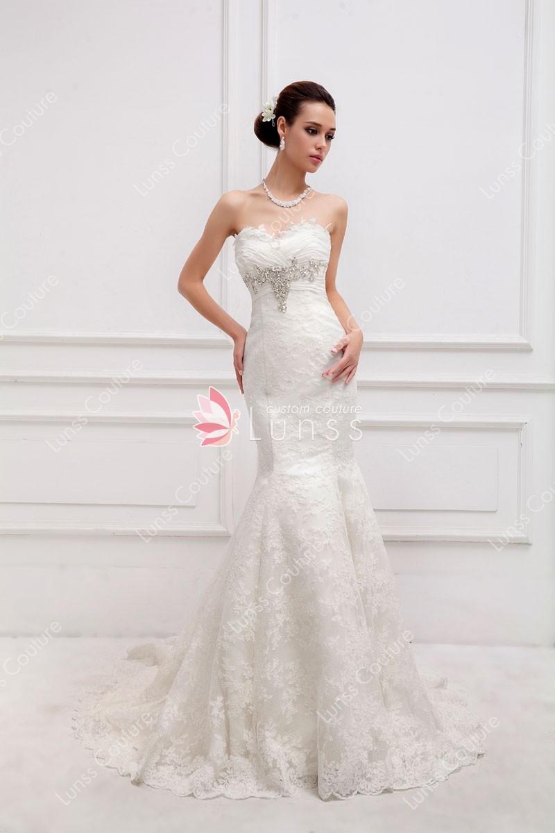 bedazzled wedding dresses photo - 1