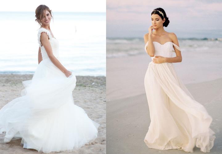 best beach wedding dresses photo - 1