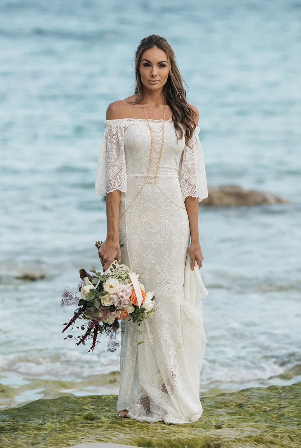 best wedding dresses for beach wedding photo - 1