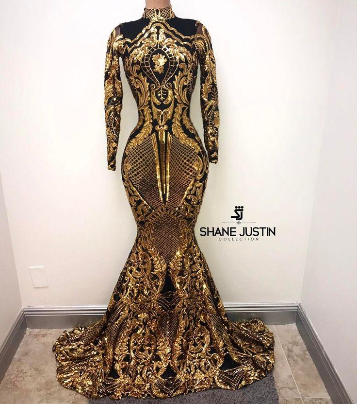 black and gold elegant dresses photo - 1