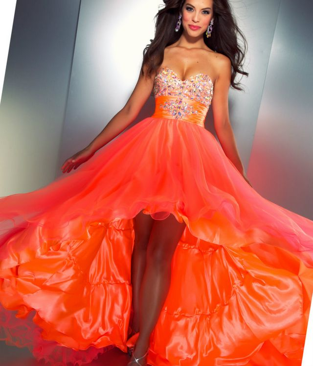 black and orange wedding dresses photo - 1
