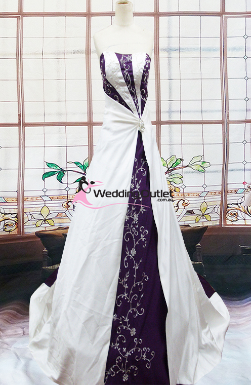 black and silver wedding dresses photo - 1