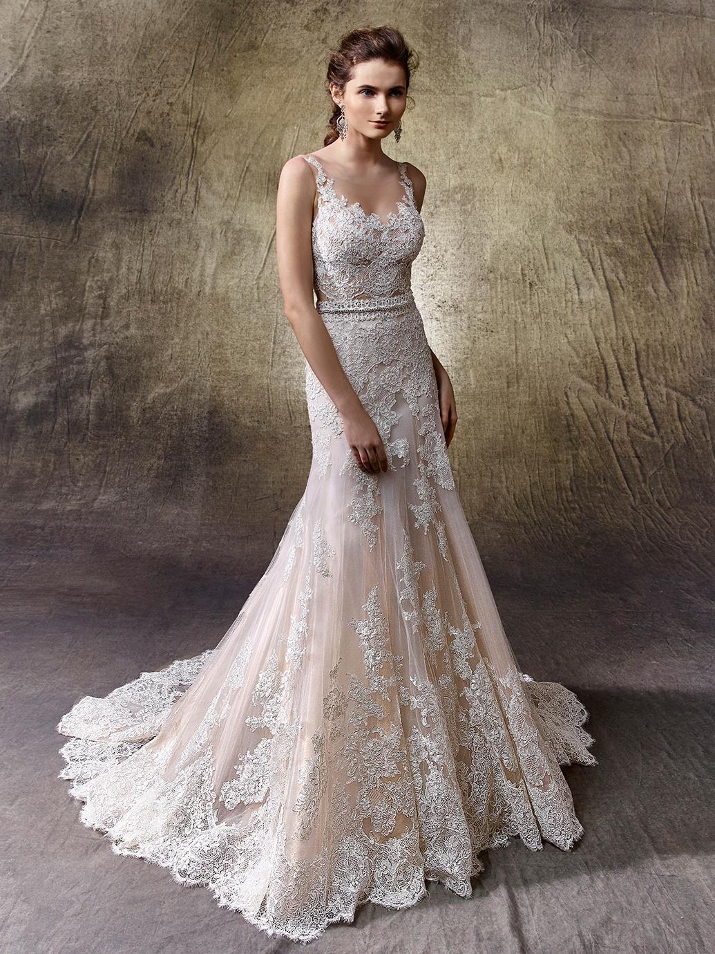 black and white lace wedding dresses photo - 1
