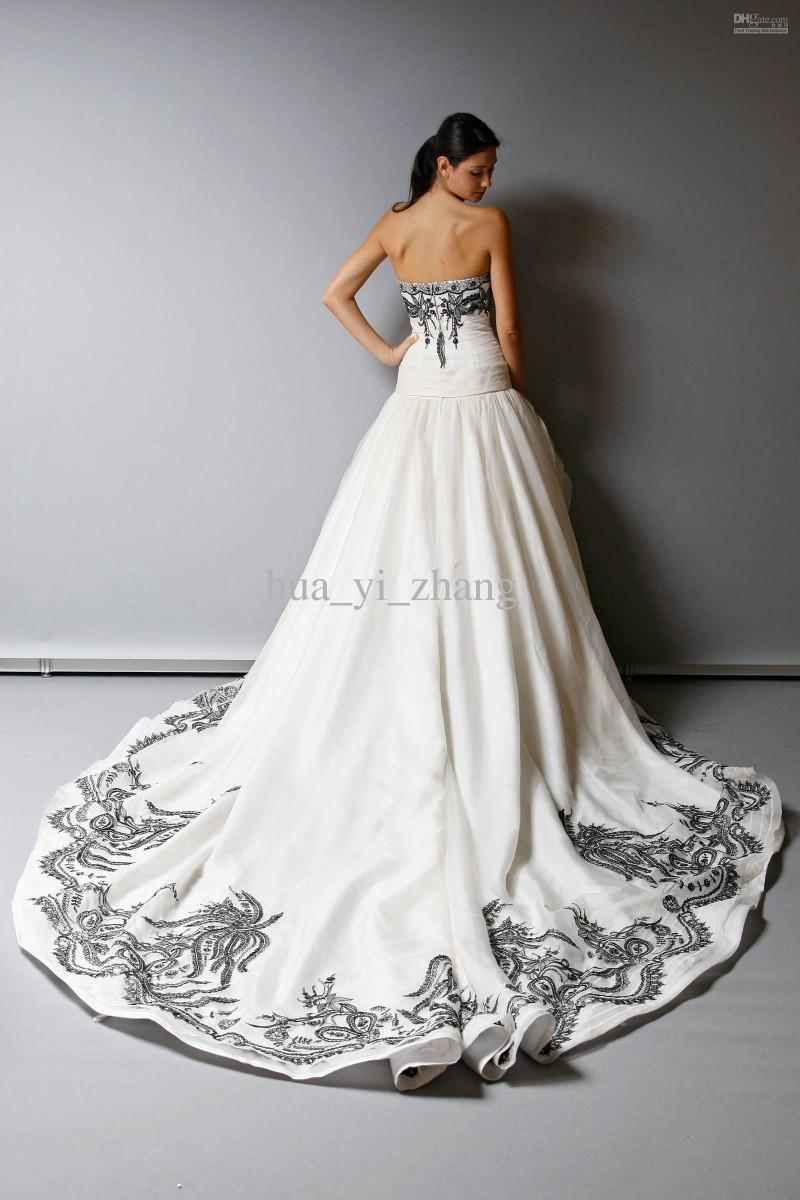 black and white vintage wedding dresses photo - 1