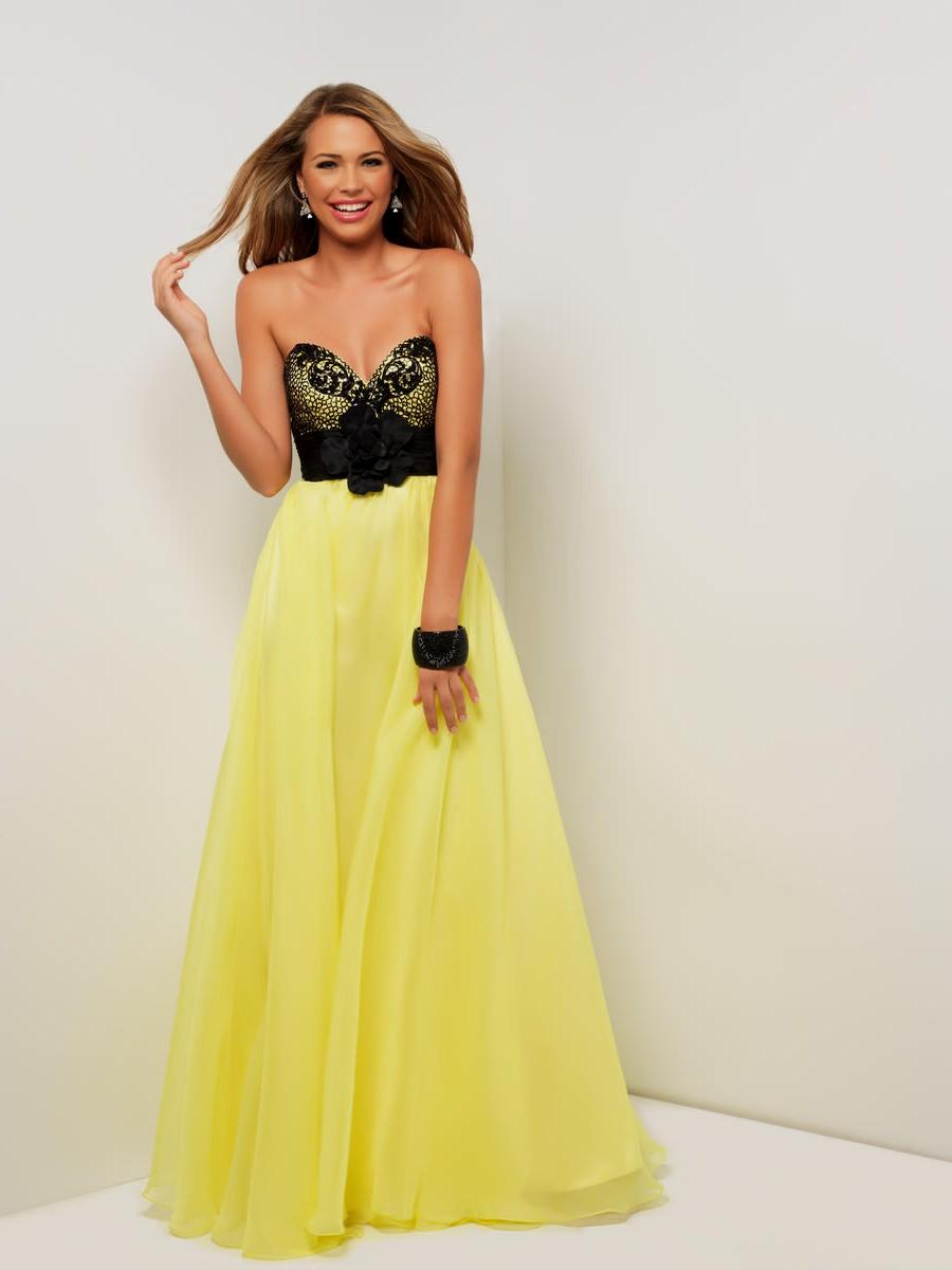 black and yellow wedding dresses photo - 1