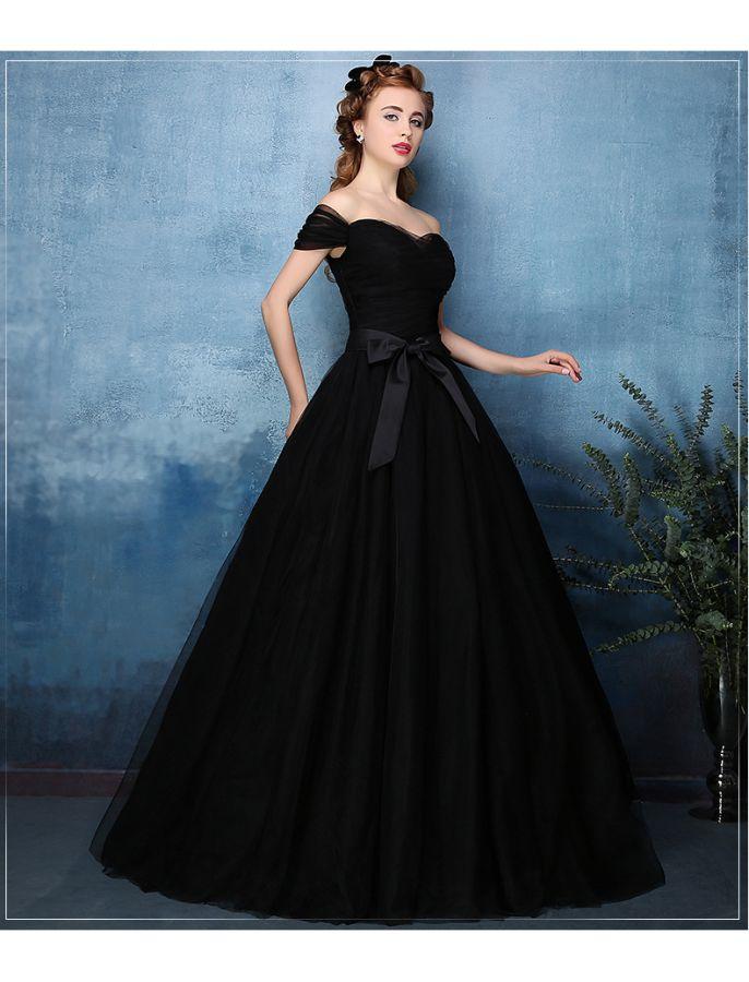 black ball gown wedding dresses photo - 1