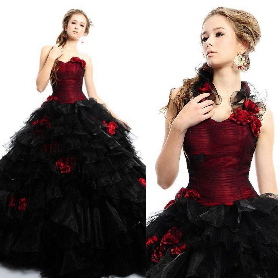 black gothic wedding dresses photo - 1