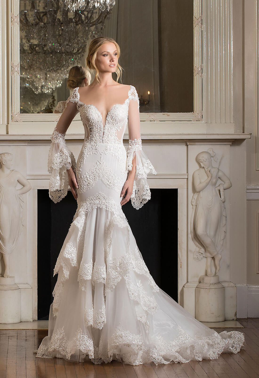 black lace wedding dresses photo - 1