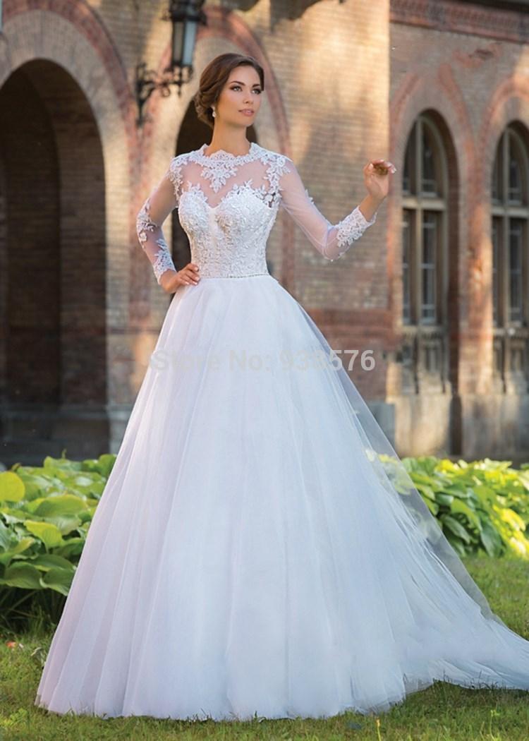 black long sleeve wedding dresses photo - 1