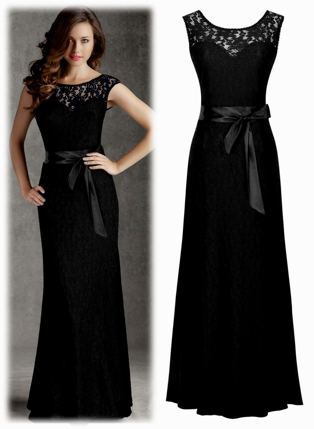 black tie dresses for wedding photo - 1