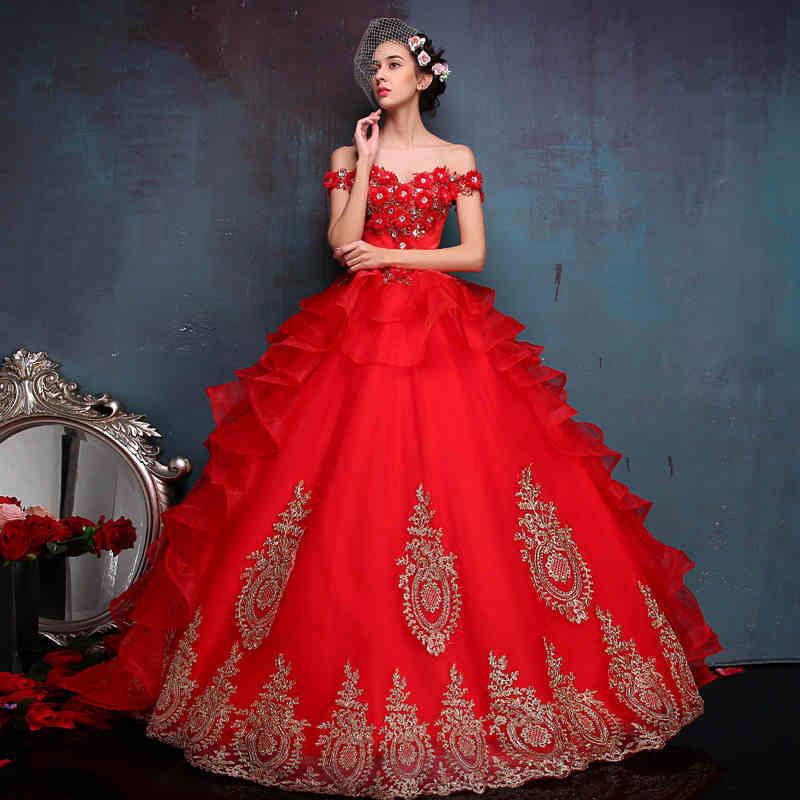 blood red wedding dresses photo - 1