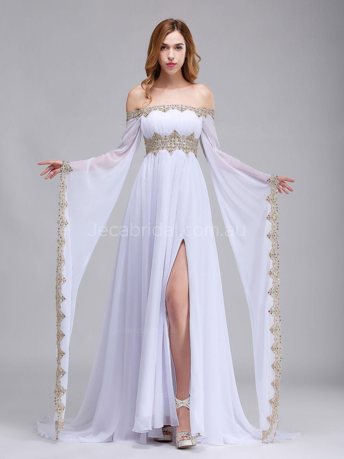 blue and white wedding dresses photo - 1