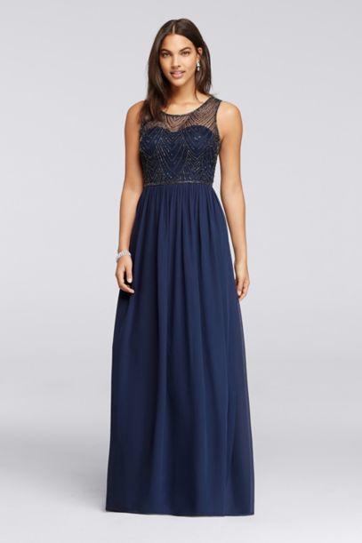 blue marine wedding dresses photo - 1